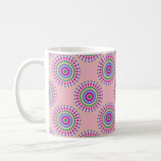 CHIC FUN MUG_PASTEL SUNBURST PATTERN COFFEE MUG