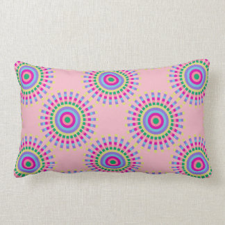 CHIC FUN PILLOW_COOL PASTEL SUNBURST GEOMETRIC LUMBAR PILLOW