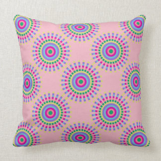 CHIC FUN PILLOW_COOL PASTEL SUNBURST GEOMETRIC THROW PILLOW