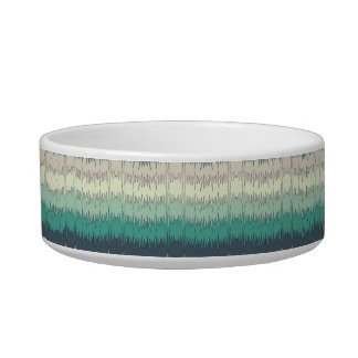 Chic Funky Chevron Zigzag Colorful Vibrant Pattern Bowl