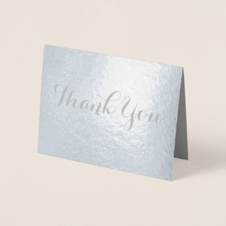 Chic Galligraphy Font Thank You Foil Card