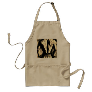 Chic Gay Men's Aprons with Body Builder