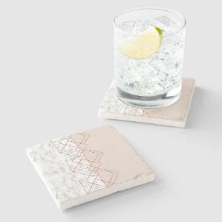 chic geometric marble coaster