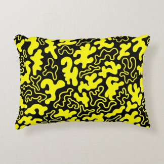 """""""Chic Germs - Black & Gold"""" Accent Pillow"""