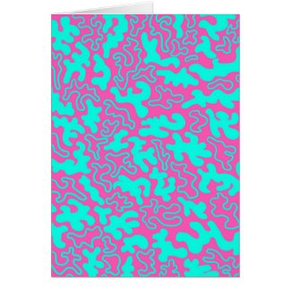 """""""Chic Germs - Pink & Teal"""" Card"""