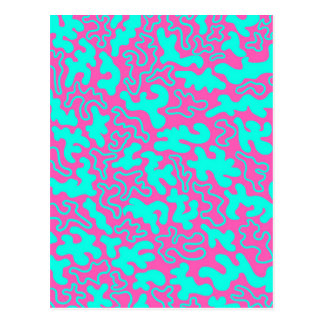 """Chic Germs - Pink & Teal"" Postcard"