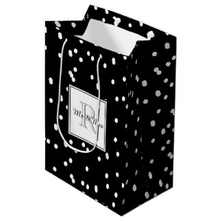 "CHIC GIFT BAG_""Mr & Mrs"" MONOGRAM WITH DOTS Medium Gift Bag"