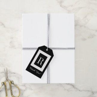 "CHIC GIFT TAG_""Thank You!"" MODERN BLACK & WHITE Gift Tags"