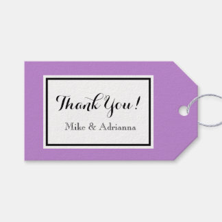 """CHIC GIFT TAG_""""Thank You!"""" MODERN  WHITE/LAVENDER Gift Tags"""