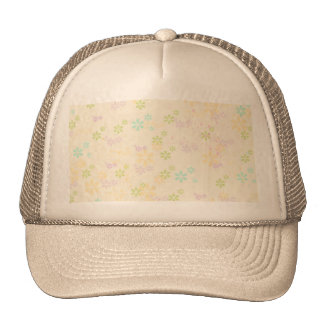 Chic Girly Colorful Watercolors Floral Trucker Hat