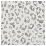Chic girly glitter silver cheetah print pattern fabric