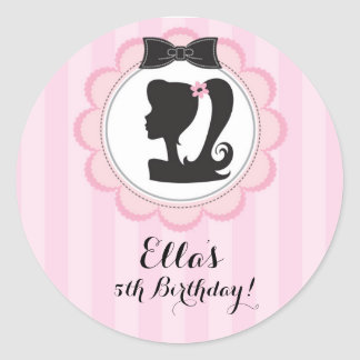 Chic Glam Birthday Party Favor Stickers