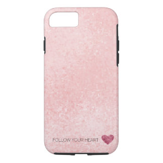 Chic Glitzy Pink Heart iPhone 8/7 Case