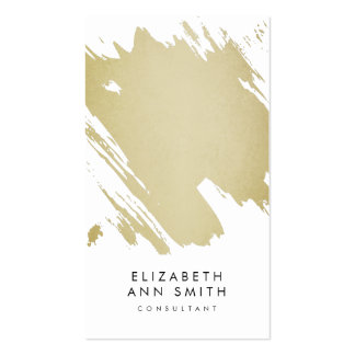 Chic Gold Abstract Brushstrokes Business Card Pack