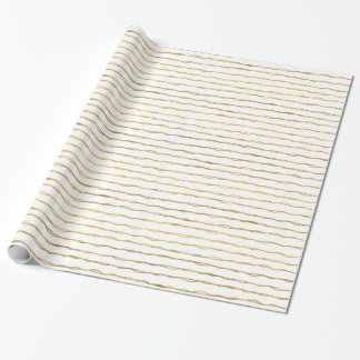 Chic Gold Abstract Stripes Wrapping Paper