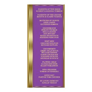 Chic Gold and Royal Purple Wedding Custom Program