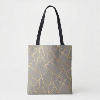 Chic Gold Bobby Pins Gray Tote Bag