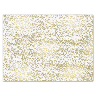 Chic Gold Confetti Tissue Paper