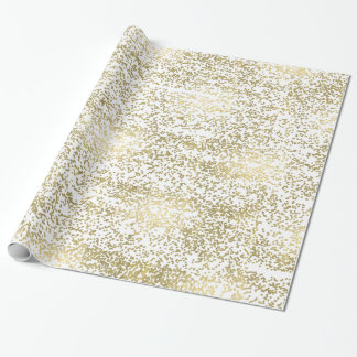 Chic Gold Confetti Wrapping Paper