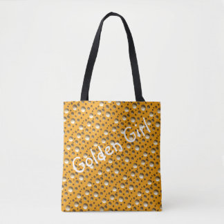 Chic Gold Dots bag for beach or shopping