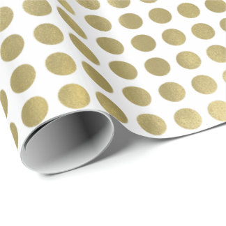 Chic Gold Dots Wrapping Paper