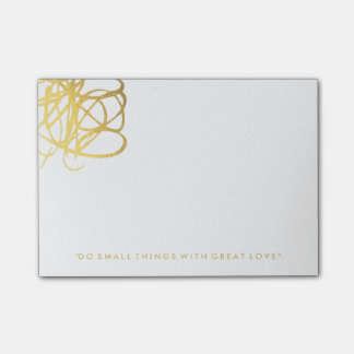 Chic Gold Effect Post It Notes