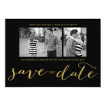 CHIC GOLD FOIL HANDWRITTEN | PHOTO SAVE THE DATE PERSONALIZED INVITATION
