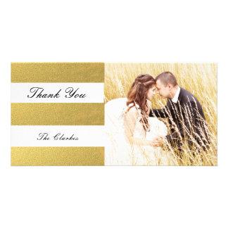 CHIC GOLD FOIL PRINT | WEDDING THANK YOU PHOTO CUSTOM PHOTO CARD