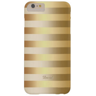 Chic Gold Foil Stripes iPhone 6 Plus Case