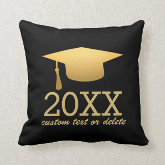 Chic Gold Foil Trendy Graduation Class of 2017 Throw Pillow