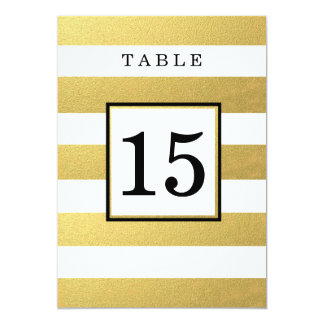 CHIC GOLD FOIL WEDDING TABLE NUMBER CARDS PERSONALIZED INVITATIONS