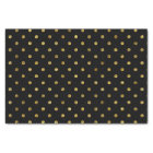 Chic Gold Glam and Black Polka Dots Tissue Paper