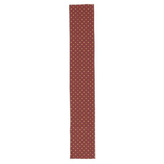 Chic Gold Glam and Red Dots Long Table Runner