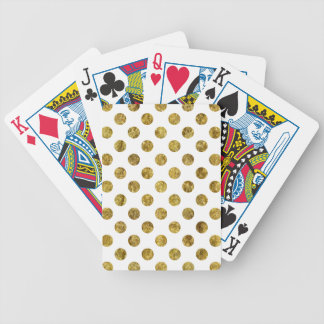 Chic Gold Glam Dots Bicycle Playing Cards