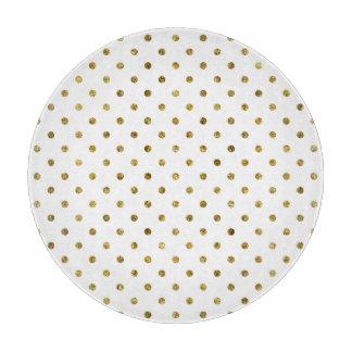Chic Gold Glam Polka Dots Cutting Board