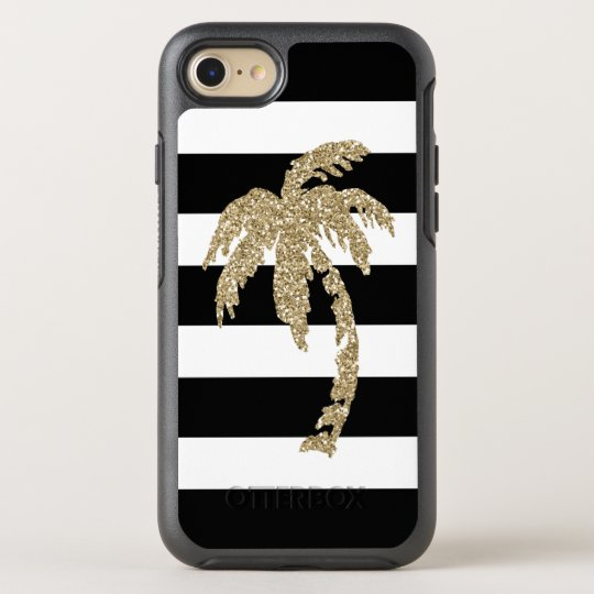Chic Gold Palm Tree Striped iPhone 7 Otterbox Case