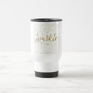 Chic Gold Sparkle Travel Mug