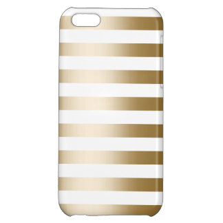 Chic Gold Stripes Pattern iPhone 5C Case