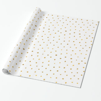 Chic Gold White Dots Wrapping Paper