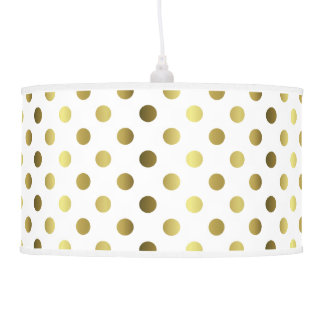 Chic Golden Yellow Polka Dots Pendant Lamp