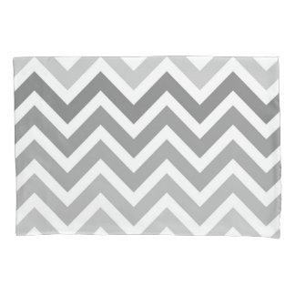 Chic Gray Chevron Ombre ZigZag Pattern Pillowcase