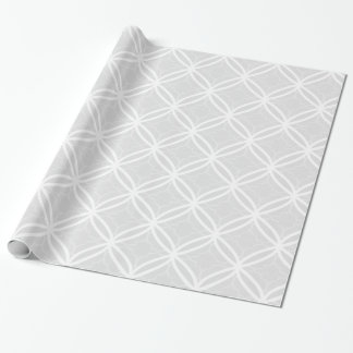 Chic Gray & White Lattice Geometric Pattern