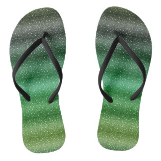 Chic Green Custom Adult, Slim Straps Flip Flops