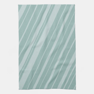 Chic Green Mint Stripes Kitchen Towel