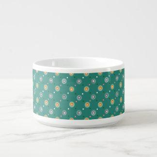 Chic Green Polka Dot Bowl