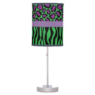 Chic Green/Purple Zebra & Leopard Lamp Shades