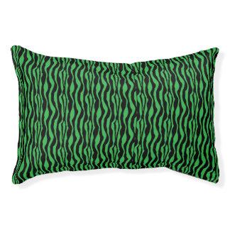 Chic Green Zebra Print Pattern Small Dog Bed