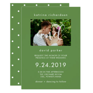 Chic Greenery | Photo Wedding Invitation
