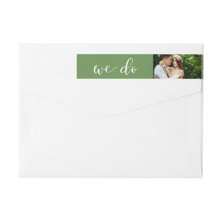 Chic Greenery | Photo Wedding Wraparound Return Address Label