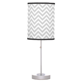 Chic Grey Chevron Table Lamp